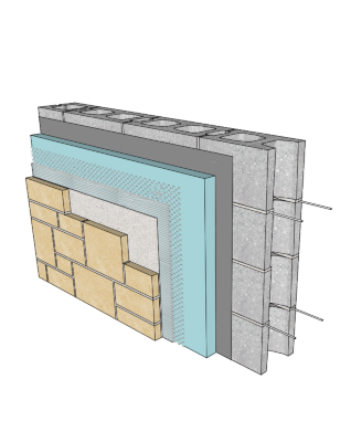 Adhered Stone Veneer Systems
