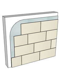 Adhered Stone Tile
